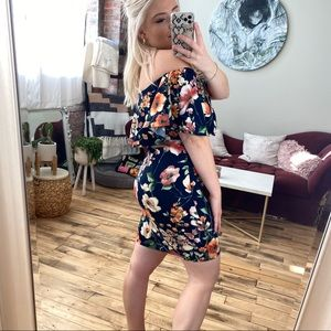 Soprano Off the Shoulder Floral Dress